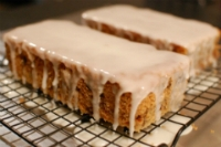 Lemon Carrot Raisin Bread with Lemon Glaze